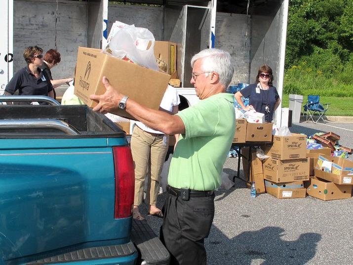 Carolinas HealthCare System Blue Ridge Dennis Stamper food distribution photo
