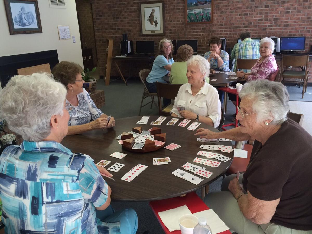 Senior Center ladies playing cards pic