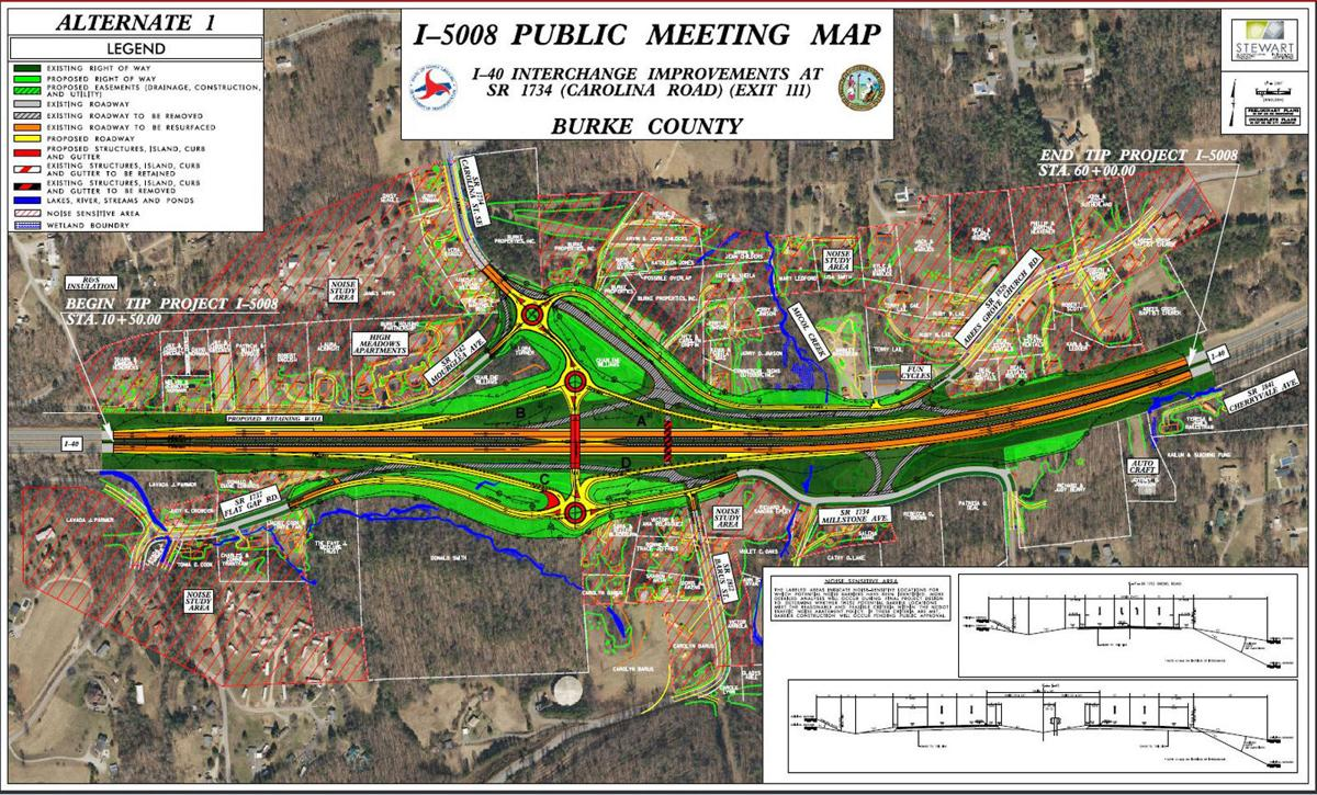 Meeting on plans for I-40 exits set | News | morganton.com on route 66 us map, i 40 arizona map, i-35 map, i-40 highway, us highway 80 map, i-40 new mexico, i-40 oklahoma, i-40 rock slide, i-40 interstate conditions, i-40 bridge collapse, u.s. route 40 map, i-40 crash, i-40 california, i 40 arkansas map, i-40 sign, i 40 tn map, i-40 in tennessee, highway 40 colorado map, i-40 exit guide, i 30 map,