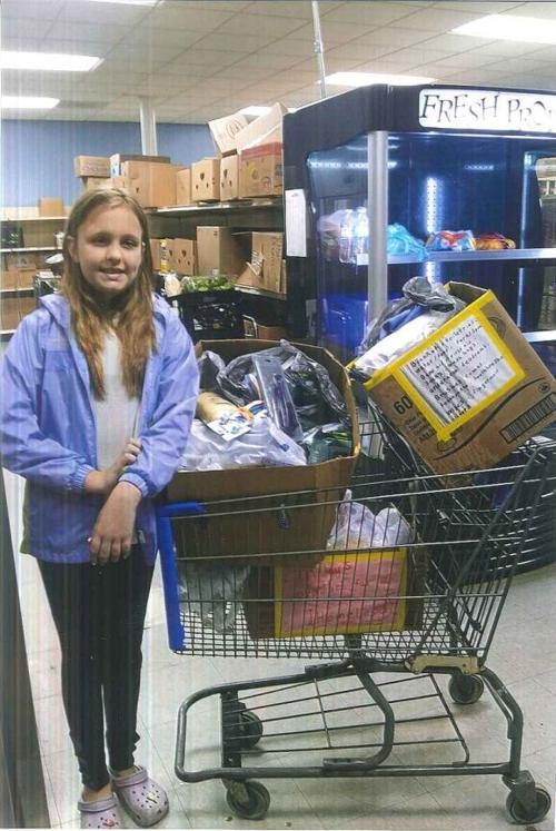 Miley Secrest BUCM food donation photo