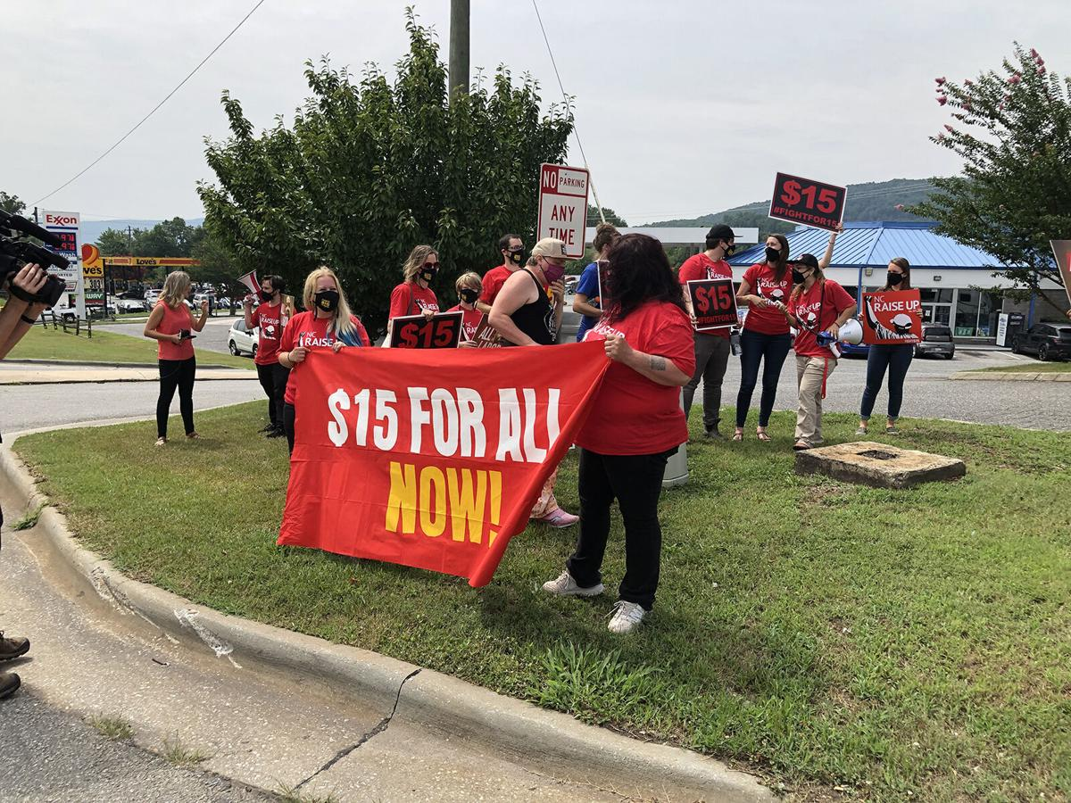 Workers hold strike, rally in Marion for pay increases, union