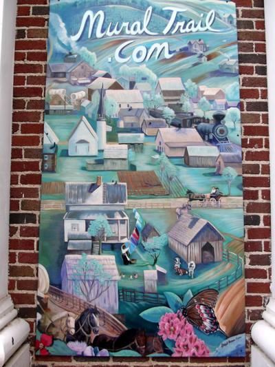 """Appalachian Mural Trail """"Train Town"""" mural photo"""
