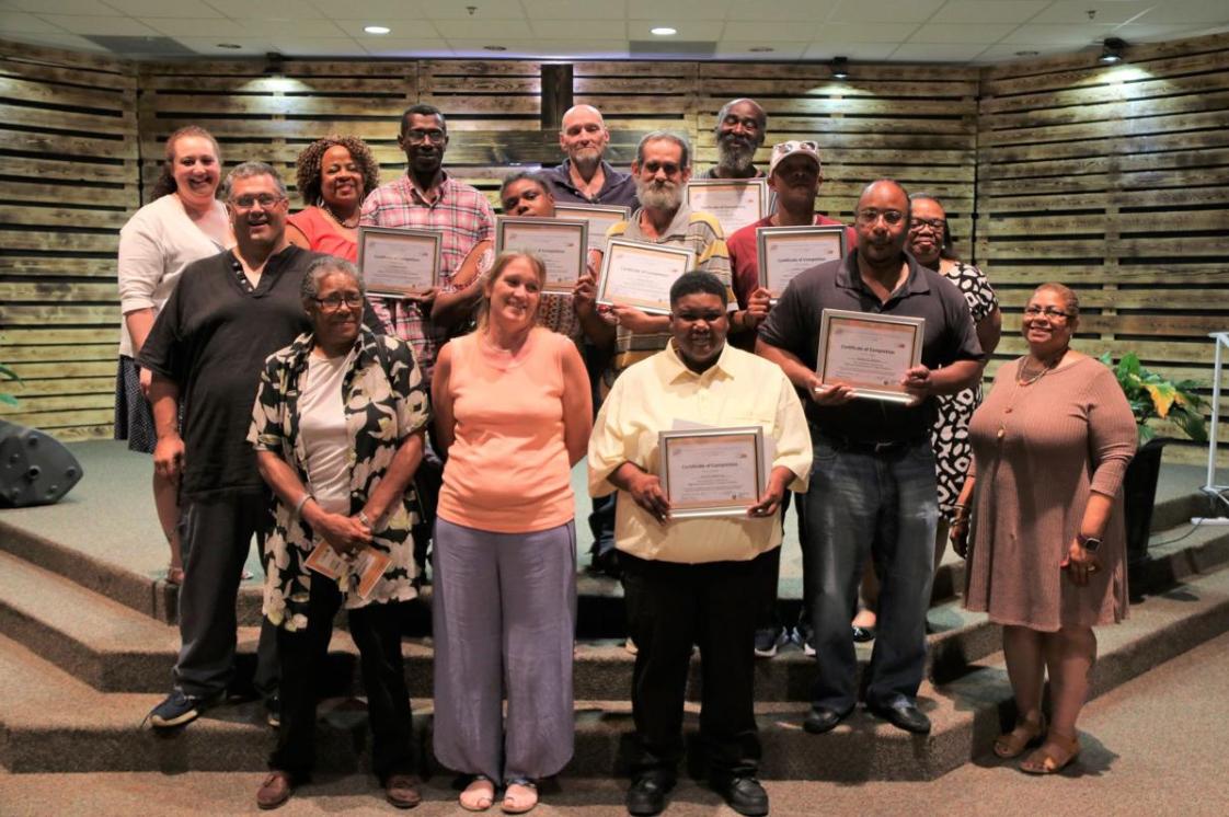 Olive Hill Community Economic Development Corporation trades academy graduation