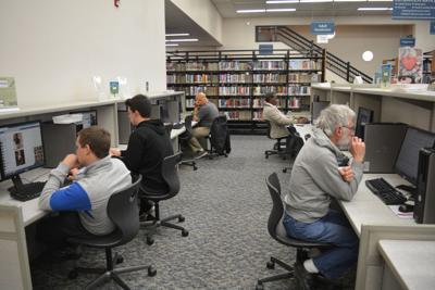 Morganton Public Library computer area
