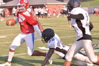 0812 Freedom football scrimmage
