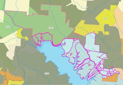 Map of lake rezoning