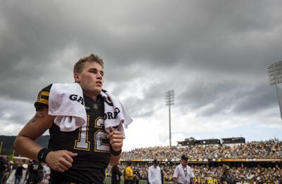Appalachian State Sop Re Quarterback Zac Thomas 12 Exits The Field On Sept 29
