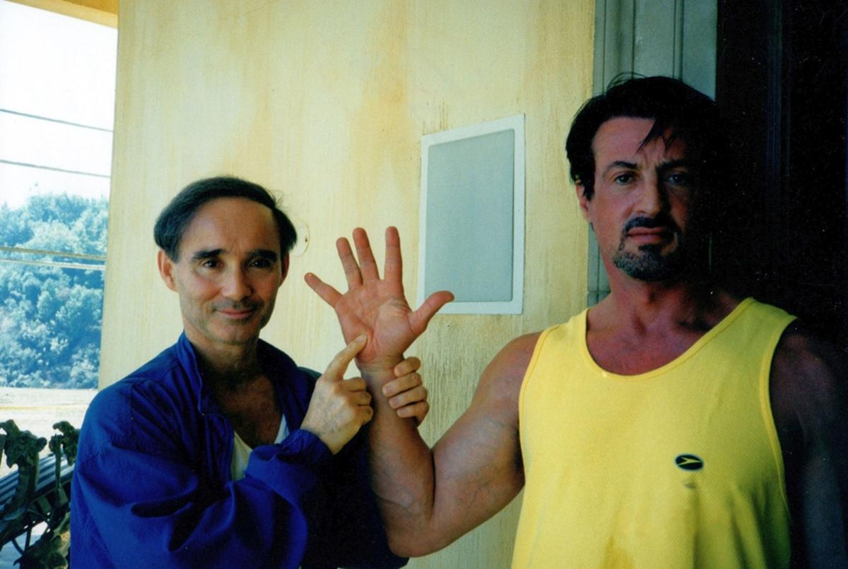 Carr with Stallone in 1999