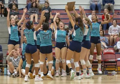 Siegel volleyball tops Blackman for 7-AAA title