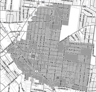 Planning Commission Downtown Zoning Map 071619