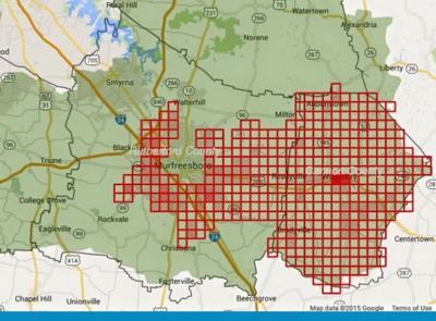 Rutherford Electric Power Outage Map.Massive Power Outage Affects Parts Of Rutherford Cannon Counties