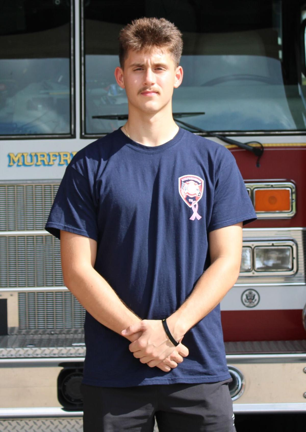 Murfreesboro firefighter Nolan McGril also a National Guard medic
