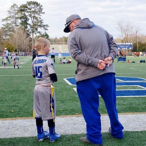 Youth flag football coach LeLoup giving back to community