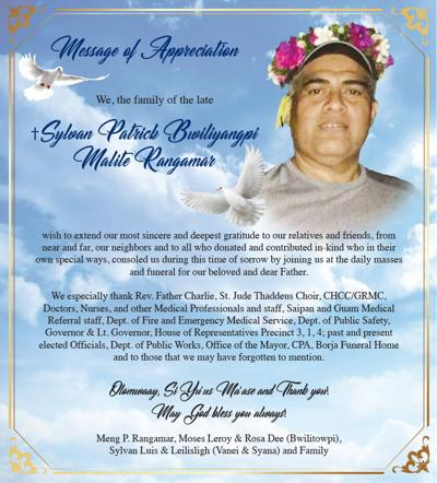 Sylvan Patrick Bwiliyangpi Malite Rangamar: Message of Appreciation