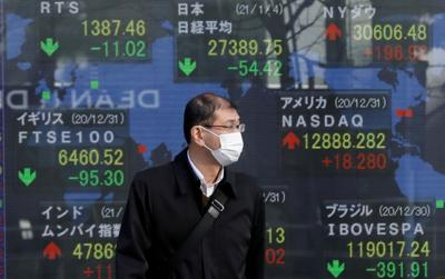 First trading day of stock market in Tokyo