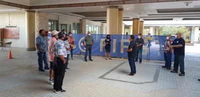 9 lawmakers visit alternate care site at Kanoa