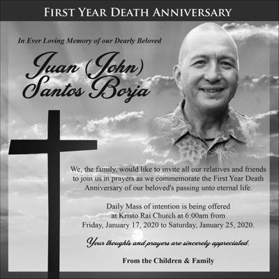 Juan Santos Borja first year death anniversary