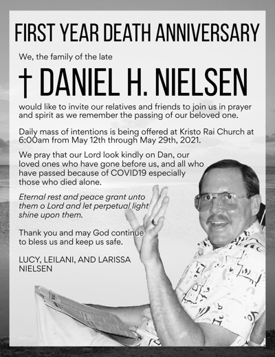 †Daniel H. Nielsen: First Year Death Anniversary