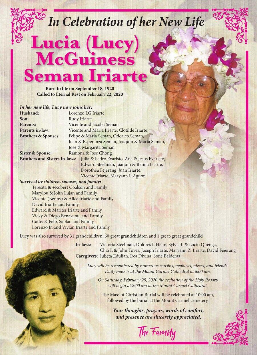 Lucia McGuiness Seman Iriarte