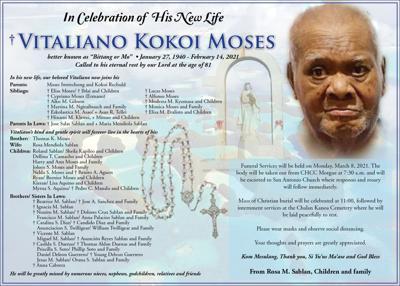 Vitaliano Kokoi Moses