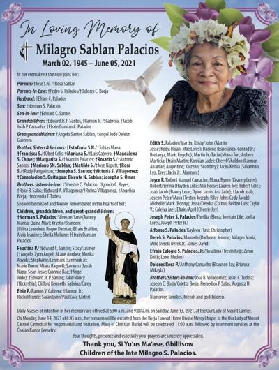 †Milagro Sablan Palacios