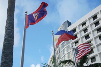Phl Guam US flags