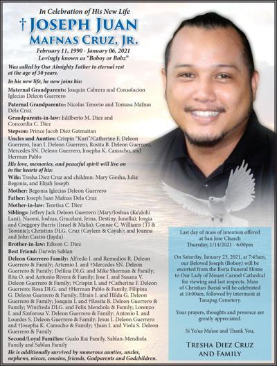 Joseph Juan Mafnas Cruz, Jr.
