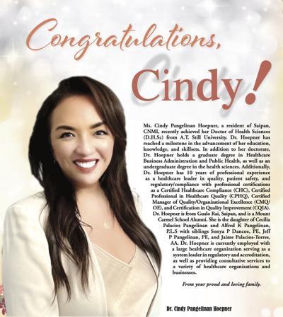 Congratulations, Dr. Cindy Pangelinan Hoepner!