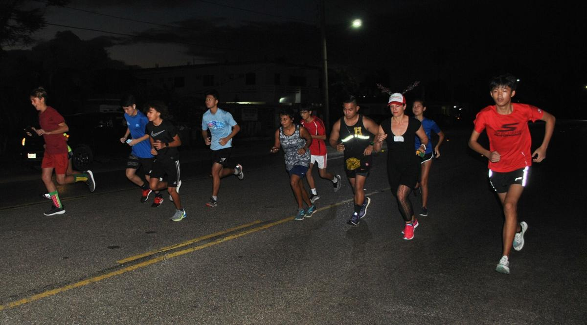 starting line Christmas island relay