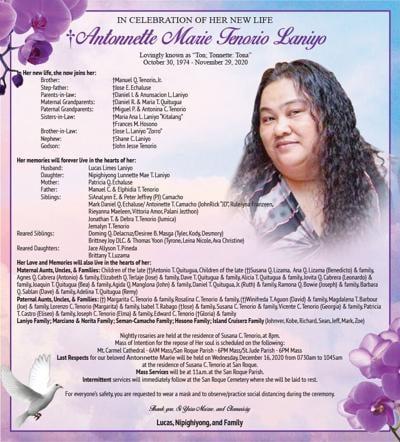 Antonnette Marie Tenorio Laniyo