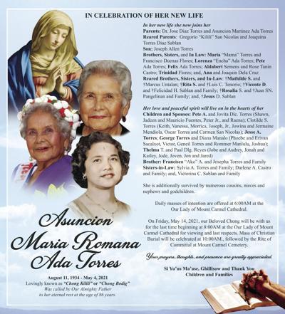 †Asuncion Maria Romana Ada Torres