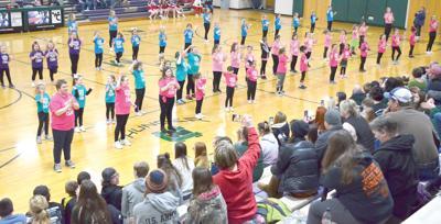 Youthful West Carroll cheerleaders entertain crowd