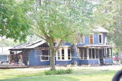 Late-night blaze destroys home