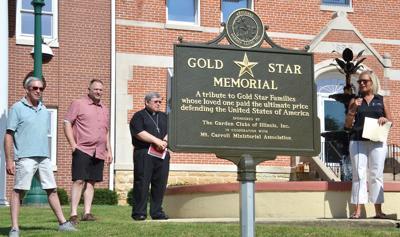 Gold Star Memorial dedicated July 4