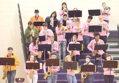WCHS pep band performs