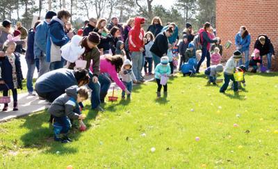Easter Egg hunting at Good Samaritan