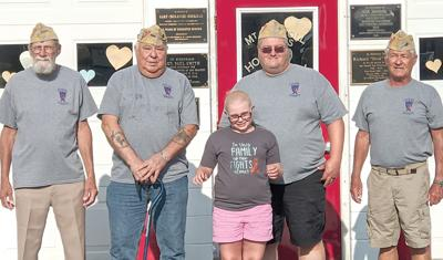 VFW supports young girl