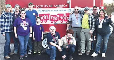 Boy Scouts assist Toys for Tots
