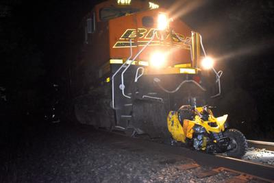 Train vs. ATV injures two