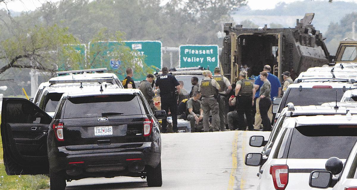 8-hour standoff ends with 2 in custody