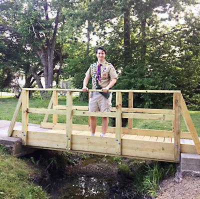 Eagle Scout builds foot bridge in Lions Park