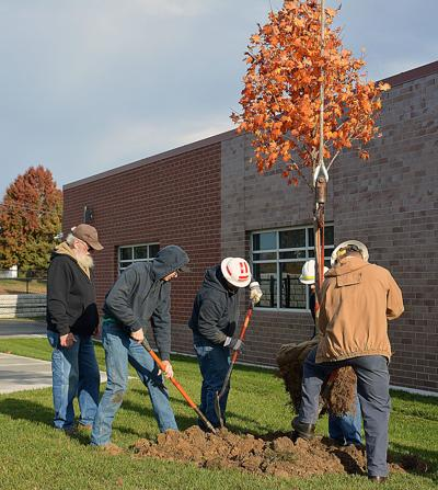 Platte-Clay employees plant 17 trees during volunteer day