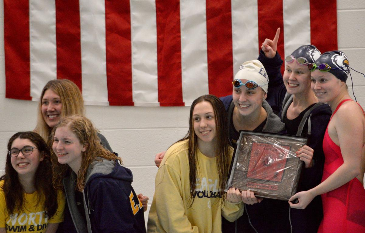 Liberty North girls swim and dive win conference again; Liberty get second