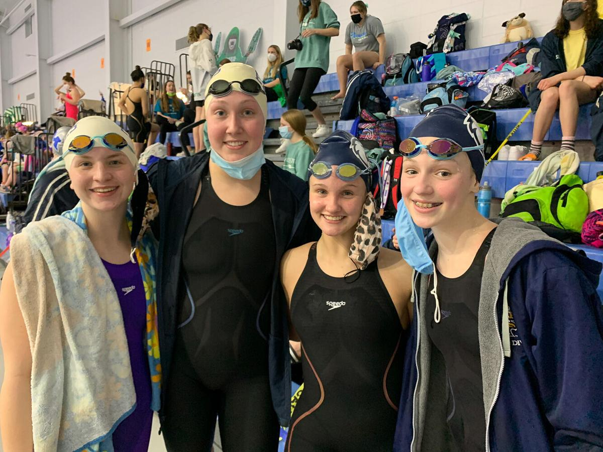 Eagles swim finishes top-10 at state for 3rd straight season