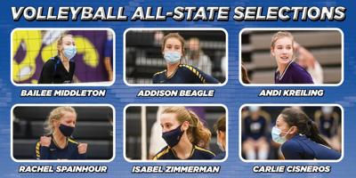 6 area volleyball players land all-state team