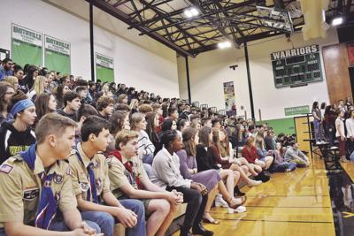 Student council honors veterans in place of annual assembly