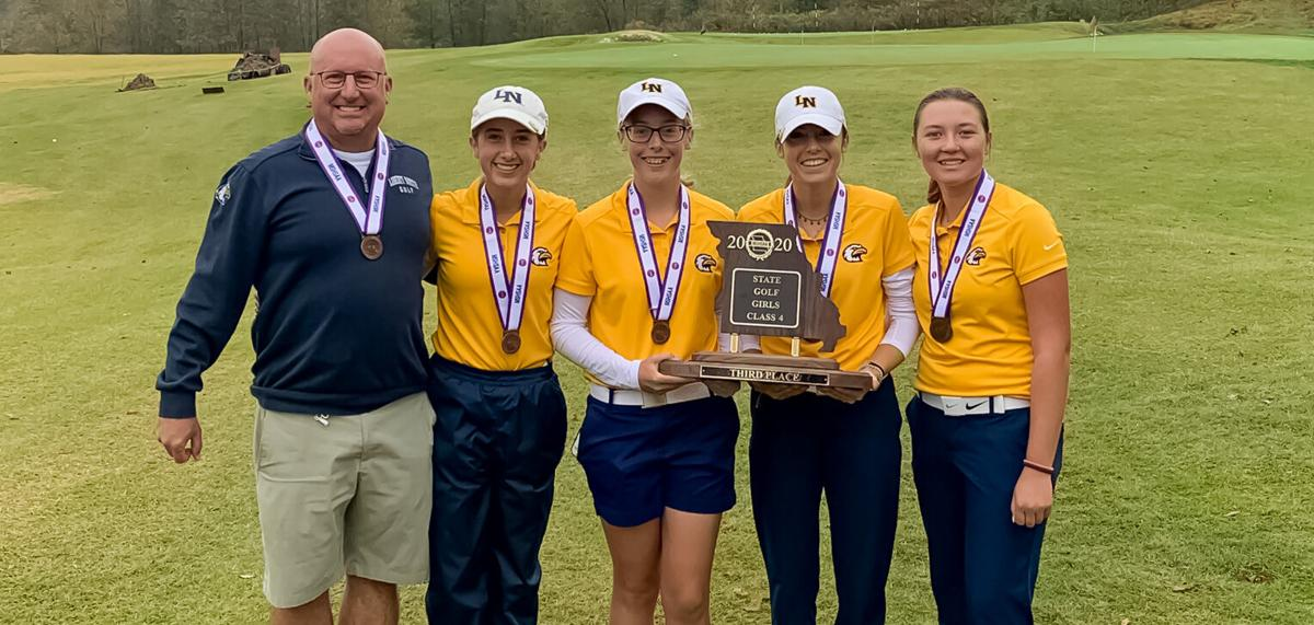 Liberty North finishes 3rd at state golf