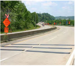 Rumble Strips provide warning of road conditions