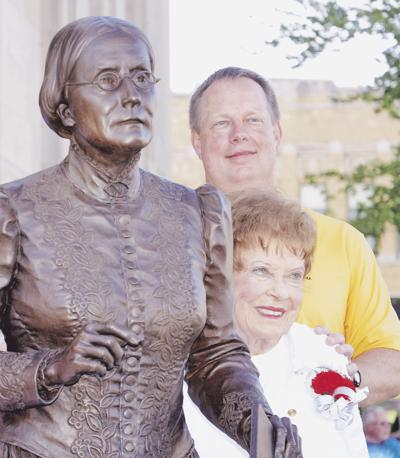 Susan B. Anthony unveiled July 3