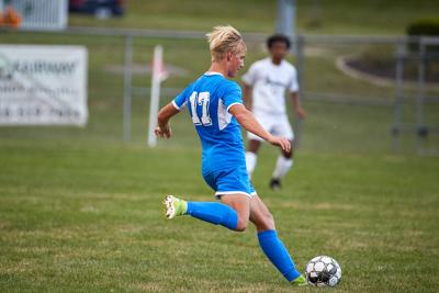 Liberty soccer regains winning record by beating 2 conference foes